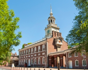 Independence Hall: The U.S. Declaration of Independence was approved here on July 4, 1776