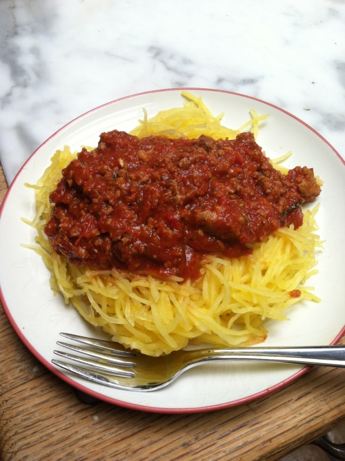 Low-Carb Spaghetti Squash With Meat Sauce