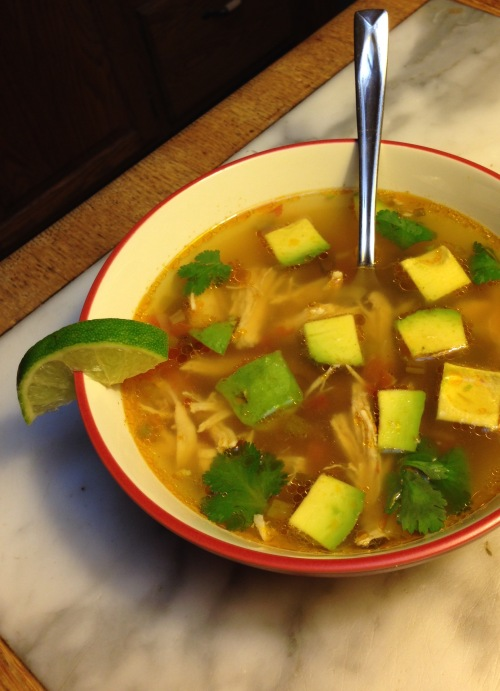 This Avocado Chicken soup is low-carb. Use the search box to find the recipe.